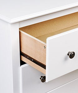 Winslow White 2-drawer & Open Cubbie Nightstand