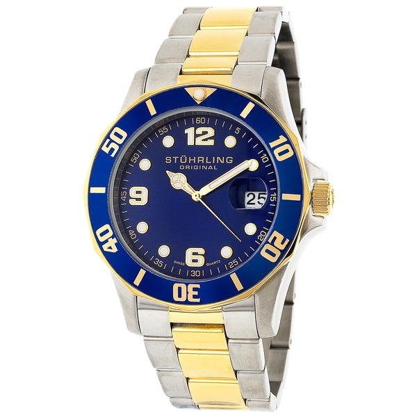 Stuhrling Original Clipper Men's Blue Dial Steel Watch