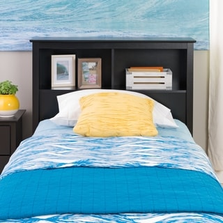 Broadway Black Twin Bookcase Headboard