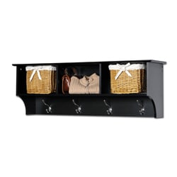 Broadway Black Entryway Cubbie Shelf