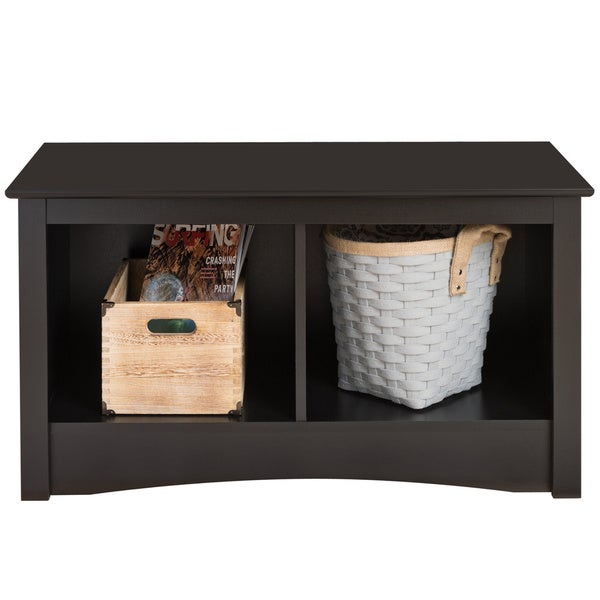 Broadway Black Twin Cubbie Bench
