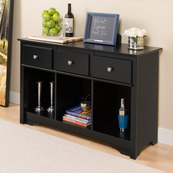 broadway black living room console 10469211 overstock