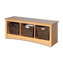 Montego Maple Cubbie Bench