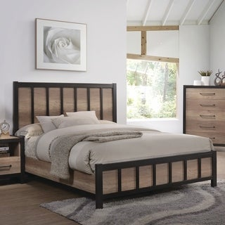 Edgewater Industrial Weathered Oak Bed