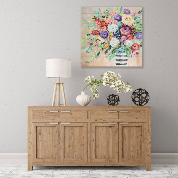 ArtWall Vibrant Bouquet Wood Pallet Art 36711491