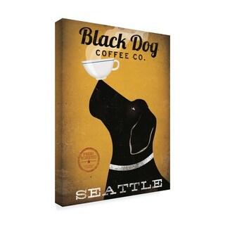 Ryan Fowler 'Black Dog Coffee Co Seattle' Canvas Art