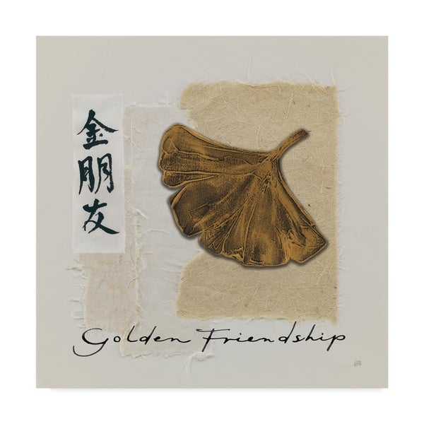 Chris Paschke 'Bronze Leaf I Golden Friendship' Canvas Art 36724228