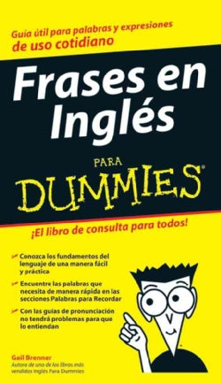 Frases en Ingles Para Dummies / English Phrases for Dummies (Paperback)
