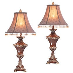 Tuscany Beaded Shade Table Lamps (Set of 2)