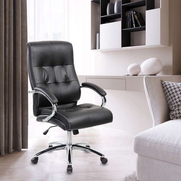 Ergonomic Faux Leather High Back Executive Office Chair 36771304