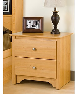 Montego Maple 2-drawer Nightstand
