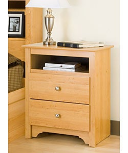 Montego Maple 2-drawer & Open Cubbie Nightstand