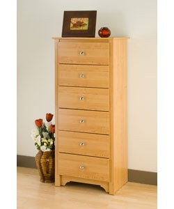 Montego Maple 6-drawer Tall Lingerie Chest