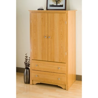 Montego Maple 2-drawer Armoire