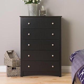 Broadway Black 5-drawer Chest