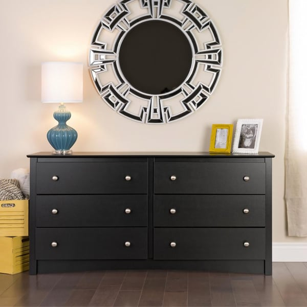 Broadway Black 6-drawer Dresser