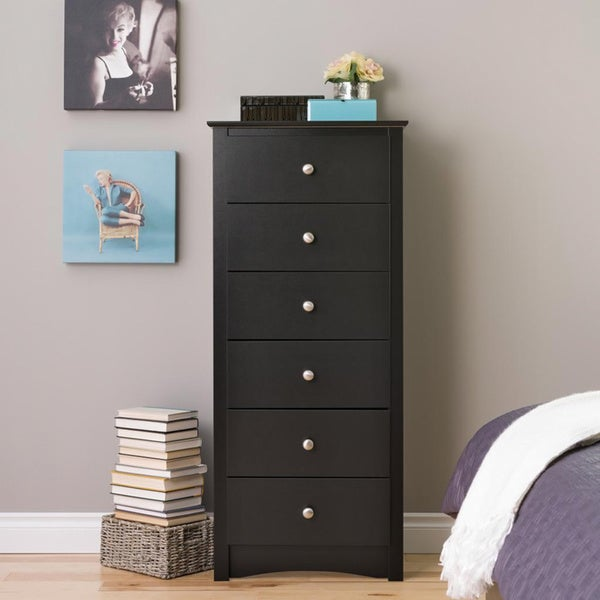 Broadway Black 6-drawer Lingerie Chest
