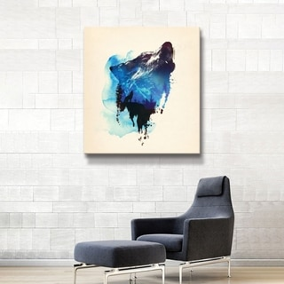 ArtWall Alone as a wolf Gallery Wrapped Canvas