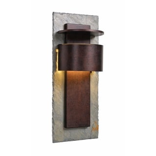 "Darius 24"" Dark Sky LED Wall Lantern - Slate and Copper"