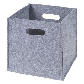 Gray Felt Storage Cube