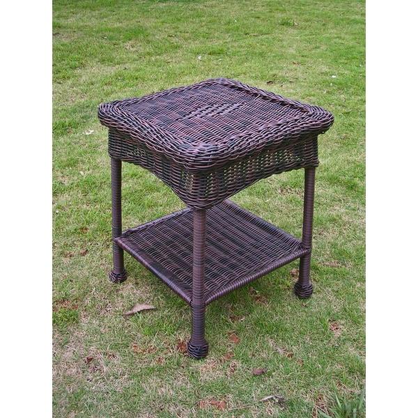 International Caravan PVC & Steel Outdoor Side Table