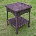 International Caravan PVC & Steel Outdoor Side Table