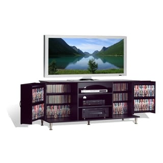 Copper Grove Paez Black Large Flat Panel Plasma/ LCD TV Console with Media Storage