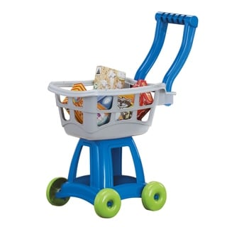 American Plastic Toys Kid's Cart Set - Blue/Silver