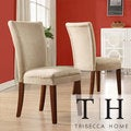 TRIBECCA HOME Parson Classic Peat Microfiber Side Chairs (Set of 2)
