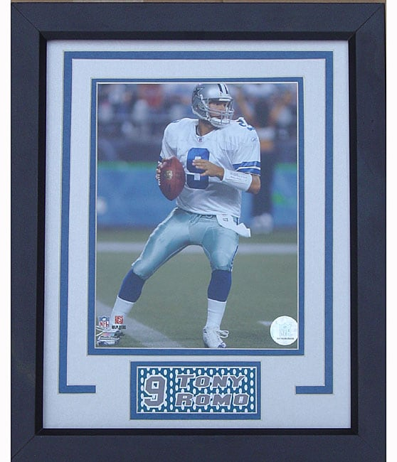 NFL Dallas Cowboys Tony Romo Deluxe Ready-to-hang Framed Picture