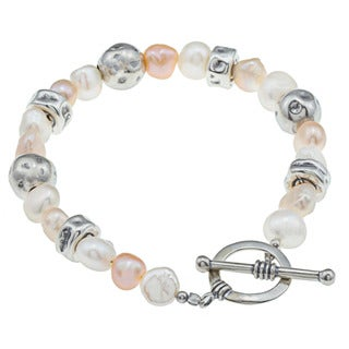 Baroque Pearl Bracelet with Sterling Silver (Israel)