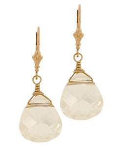 Charming Life 14k Goldfill Champagne Briolette Earrings