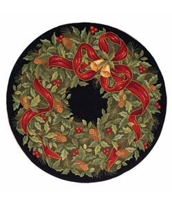 Safavieh Handmade Holiday Wreath Wool Rug (5' Round)