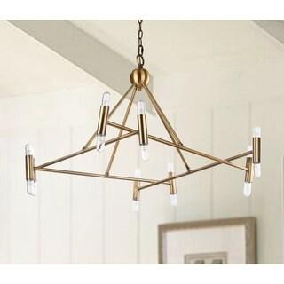 "Safavieh Lighting Hegarty Adjustable 16-light LED Gold Chandelier - 36"" x 36"" x 21-93"""