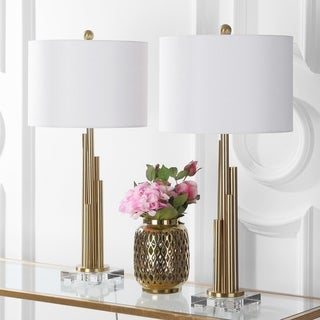 """Safavieh Lighting 32-inch Hopper LED Table Lamp (Set of 2) - 16""""x16""""x32"""""""