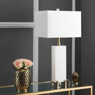 "Safavieh Lighting 30-inch Sloane Alabaster LED Table Lamp - 15""x8""x30"""