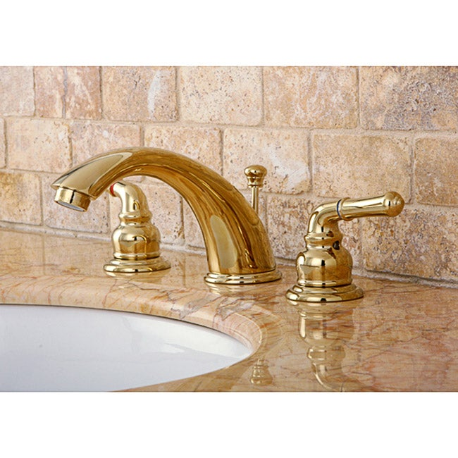 8 inch widespread bathroom faucet - Widespread Polished Brass Faucet 10488470 Overstock