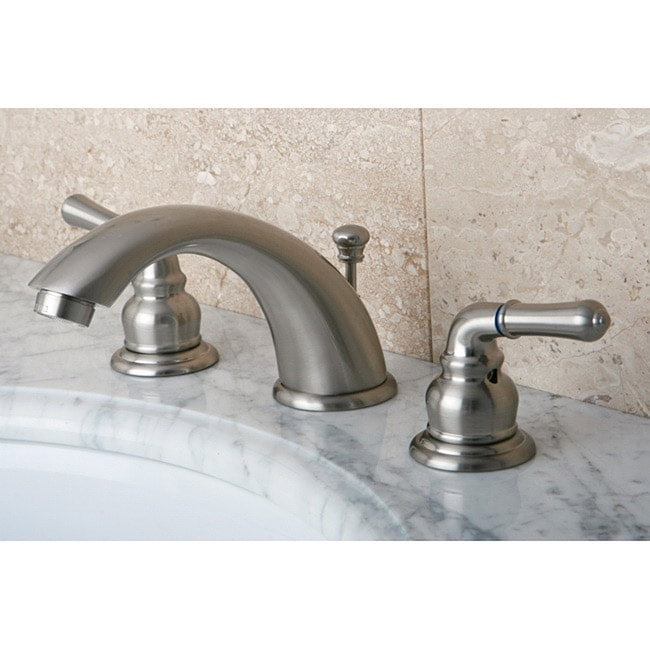 Satin Nickel Drip-Free Widespread Bathroom Faucet - 10488473 ...