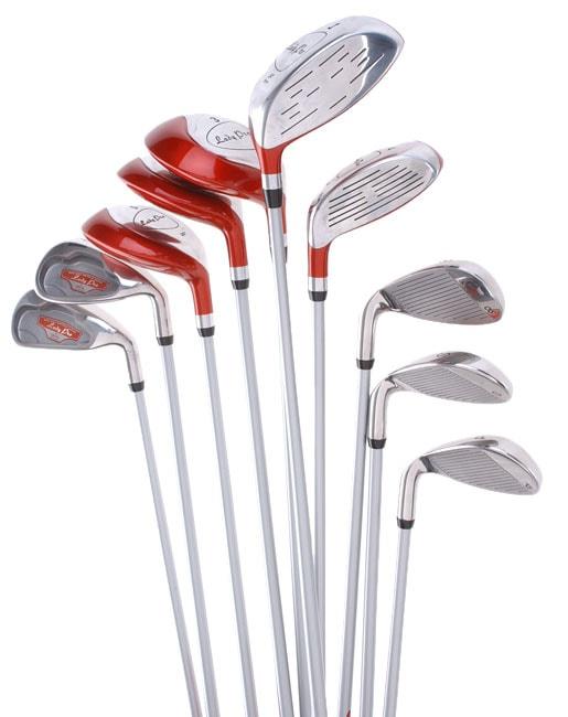 Delta Ladies Left Handed Pro Hybrid Golf Club Set