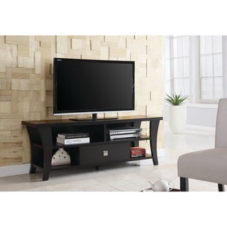 "Transitional Cappuccino TV Console - 60"" x 15.50"" x 21.75"""