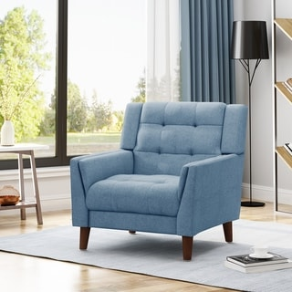 Candace Mid Century Modern Fabric Arm Chair by Christopher Knight Home