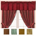 Dupioni Silk Window Curtain Pole Top Valance