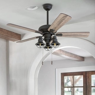 Prominence Home Piercy Coastal 42-inch Aged Bronze LED Ceiling Fan