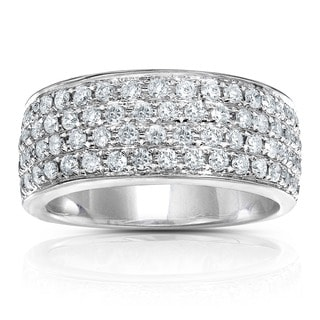 Annello 14k Gold 1ct TDW Diamond Pave Band and Gift Box (H-I, I1-I2)