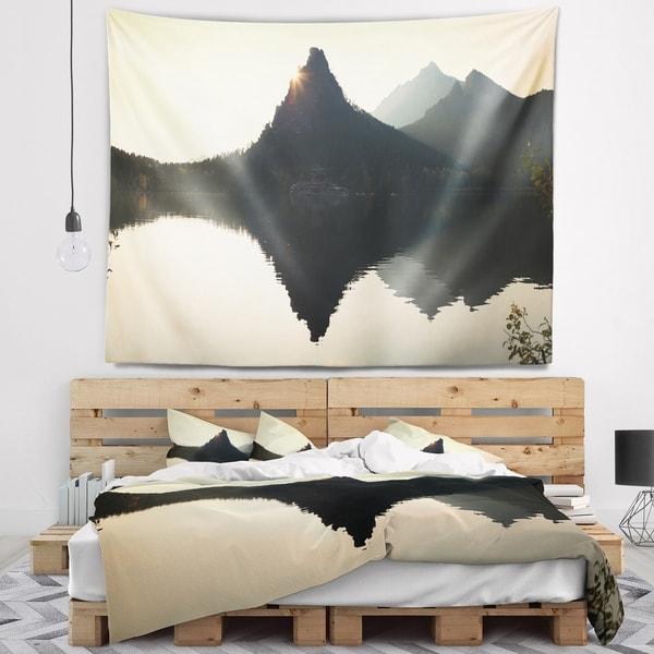 Designart 'National Park Burabay at Sunset' Landscape Wall Tapestry 37222866