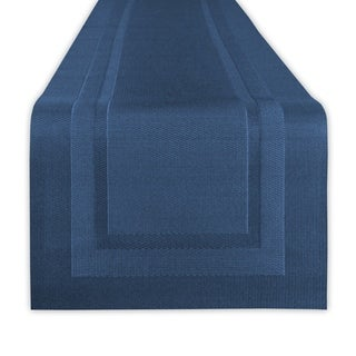 """Design Imports PVC Doubleframe Table Runner (0.25 inches high x 14 inches wide x 72 inches deep) - 72""""x14"""""""