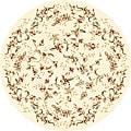 Safavieh Lyndhurst Collection Floral Beige Rug (8' Round)