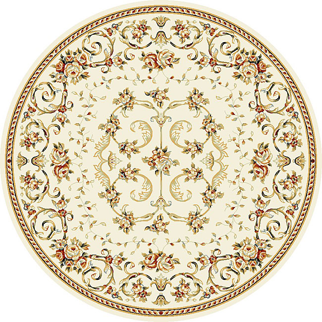 Safavieh Lyndhurst Collection Floral Ivory Rug (8' Round)