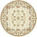 Lyndhurst Collection Floral Ivory Rug (8' Round)