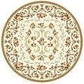 Safavieh Lyndhurst Collection Floral Ivory Rug (8' Round)